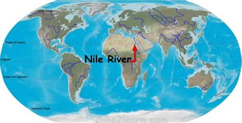 world map river nile nileriver map 点力图库