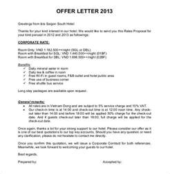 Offer Letter Format Hotel Offer Letter Template 54 Free Word Pdf Format Free