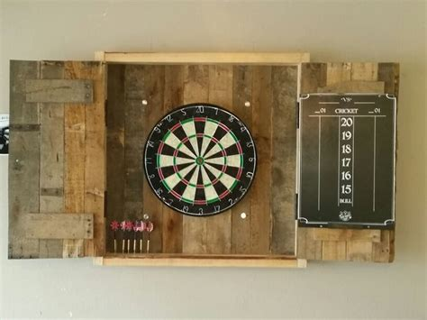 dart board cabinet   pallets completed projects dart board cabinet dart board