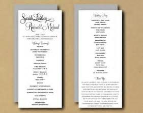 One page wedding program template galleryhip com the hippest