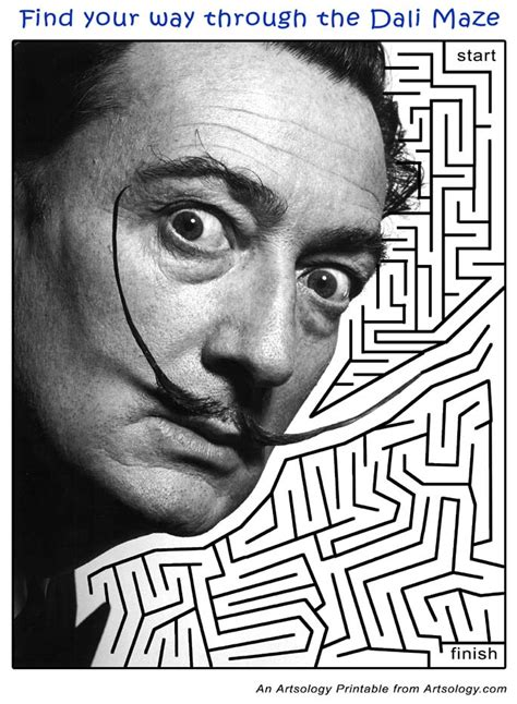 redman finding the in the maze books salvador dali maze printable for
