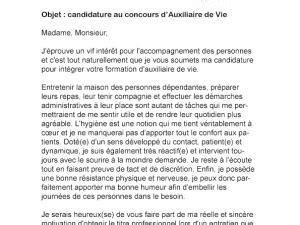 Stage Auxiliaire De Vie Lettre De Motivation Lettre De Motivation Concours Cadet De La R 233 Publique Par
