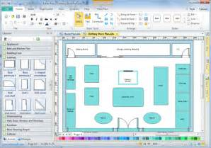 create a blueprint free store layout software edraw