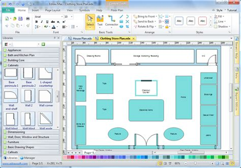 floor plan layout software store layout software edraw
