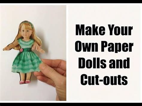 How To Make A Doll Out Of Paper - make your own diy paper dolls and cut out toys craft