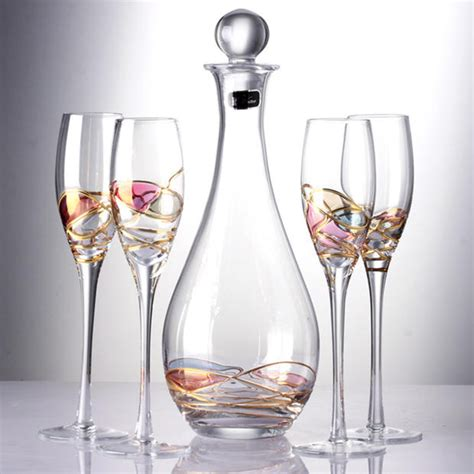 luxury wine glasses luxury goblet chagne flute glass crystal cup red wine