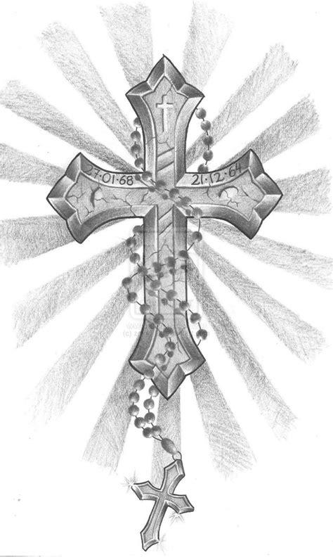 cross with rosary cross rosary by zok4life on deviantart