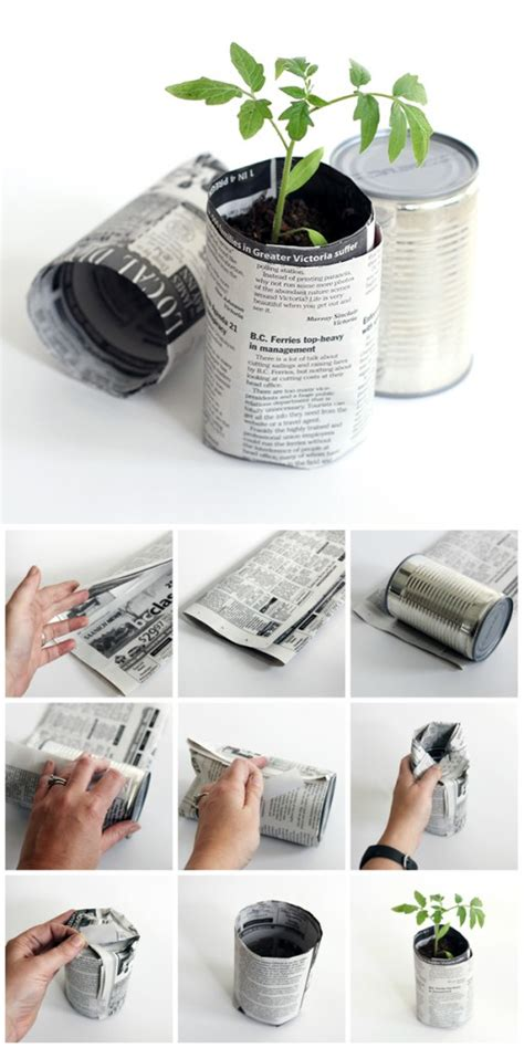 How To Make Paper Plant Pots - how to make newspaper seedling pots dabbles babbles