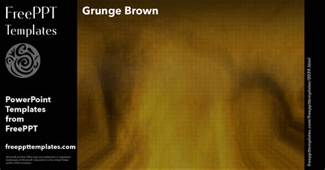 Grunge Brown Powerpoint Templates Grunge Powerpoint Template