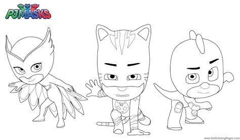 imagenes para pintar heroes en pijama im 225 genes de pj masks para colorear pintar y dibujar