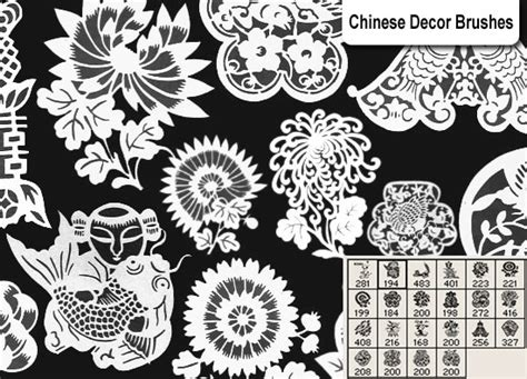 oriental pattern brush chinese decor brushes decorative photoshop brushes