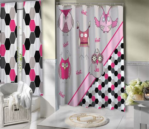 Beige And Pink Curtains Decorating Pink Beige Owl Shower Curtain Deco Bathroom Pink And Black 22 Eloquent Innovations