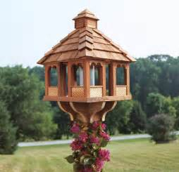 Wood feeder 717816501293 4 wood gazebo feeder multi port wood