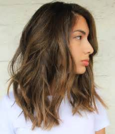 Medium Length Brown Hairstyles 60 Balayage Hair Color Ideas With Brown Caramel