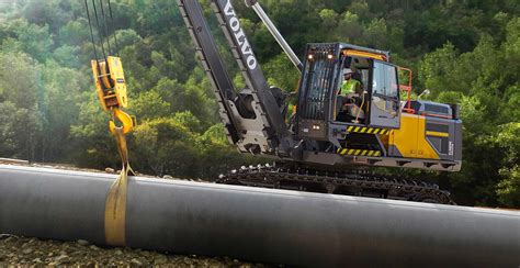 volvo international site volvo s e series pipelayers lift productivity safety and