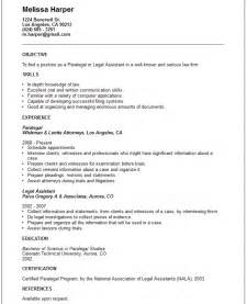 Examples Of Paralegal Resumes Legal Resume Examples