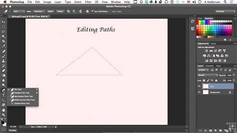 tutorial edit vector photoshop adobe photoshop cc tutorial editing vector paths and