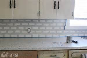 What Size Subway Tile For Kitchen Backsplash Hometalk Diy Cheap Subway Tile Backsplash