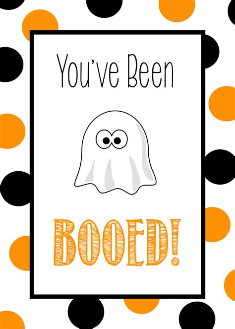printable you ve been booed poem you ve been booed free printable tags ideas