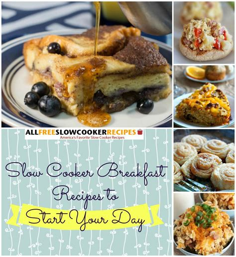 28 slow cooker breakfast recipes to start your day