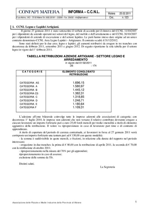 ccnl legno arredamento mod circ ccnl 123 by confapi matera issuu