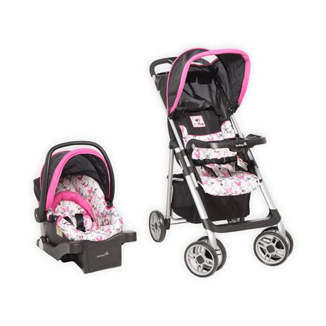 minnie mouse car seat and stroller set at walmart disney saunter sport travel system fly away minnie