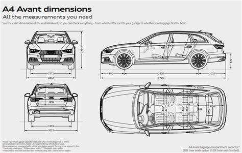 Audi A4 Avant Abmessungen by Audi A4 Avant Audi Uk