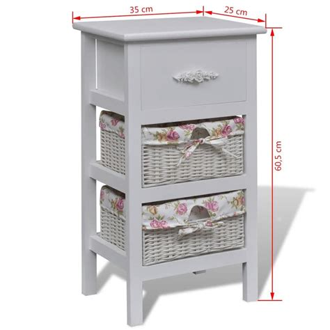 white cabinet with baskets white cabinet with 1 and 2 baskets wood vidaxl co uk