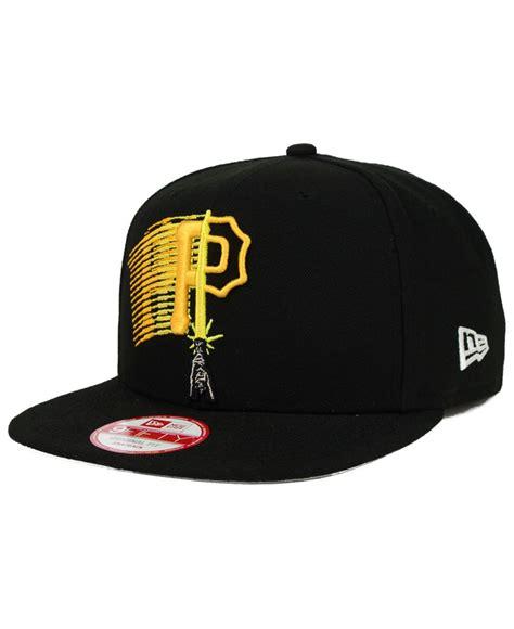 Black Wars Snapback lyst ktz pittsburgh wars logoswipe 9fifty snapback cap in black for