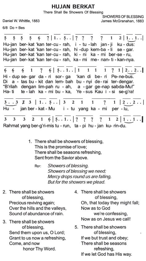 There Shall Be Showers Of Blessing Keyboard Chords by Song List Kidung Apexwallpapers