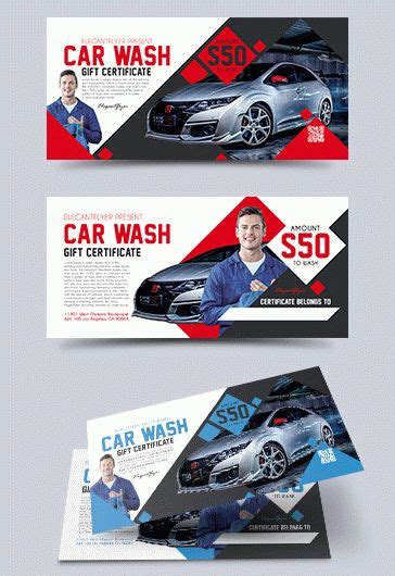 car wash gift card template car by elegantflyer