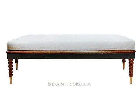 classic benches ebonized classic mahogany bench era interiors