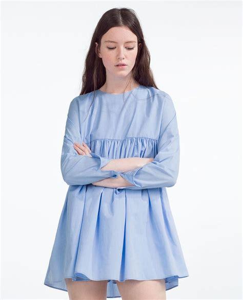 Dress Aa bild 4 overall kleid aus popelin zara fashion