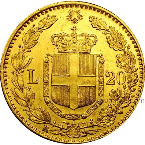 oro italia 20 lire oro umberto i marengo oro italia quotazione