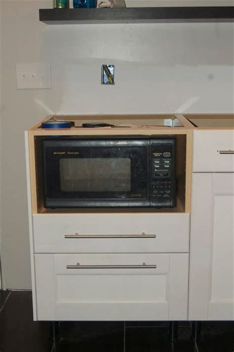 Microwave Base Cabinet by Microwave In Base Cabinet Kitchen