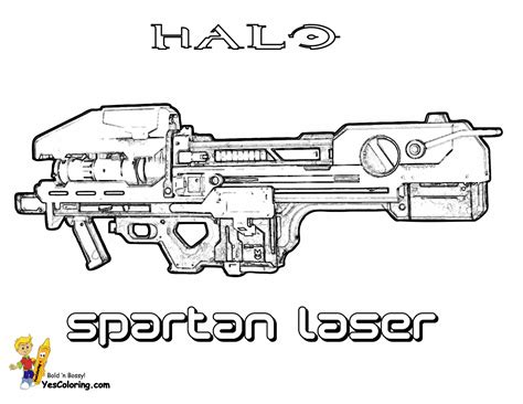 halo guns coloring pages pages of halo guns colouring pages page 2