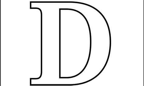 Printable Letter D Coloring Page The Power Of The Letter Letter D Coloring Pages