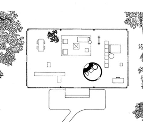 Glass House Plans | philip johnson glass house floor plan architecture