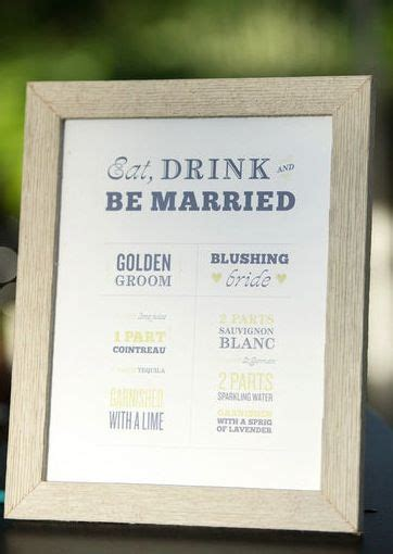 78 best ideas about signature drink signs on pinterest