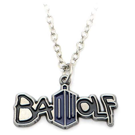 doctor who badwolf necklace vibe doctor who