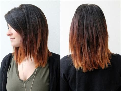 does ombre work with medium layered hair length dark to brown ombre hair for shoulder length hair
