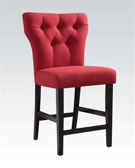 Counter Chairs Linen Counter Height Chair Effie By Acme Ac71525 Set