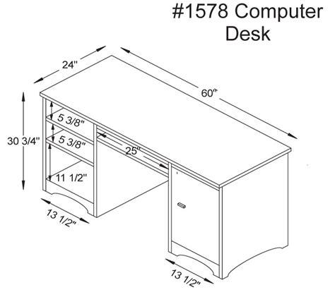 Computer Desk Dimensions Woodbury Computer Desk Ohio Hardwood Furniture