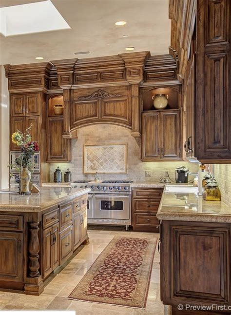 Tuscany Kitchen Cabinets Tuscan Kitchen Kitchen Pinterest Kitchens House And Kitchen Design