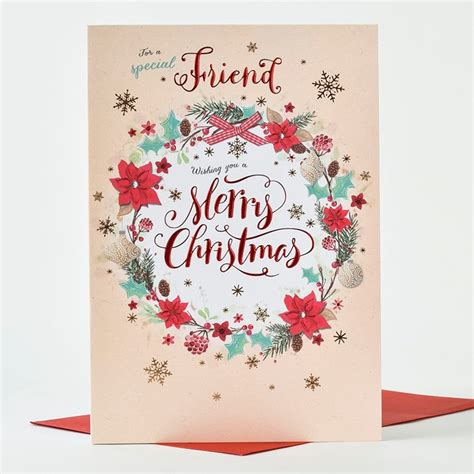Christmas Gift Card Specials - special friend christmas card my blog