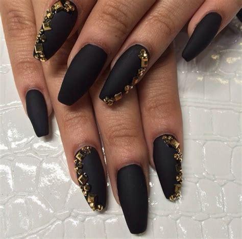 matte black nail designs matte nail
