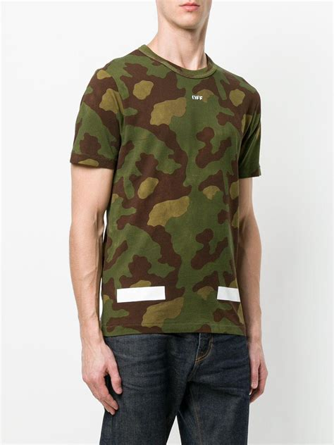 Apparel Lab Printed Prague White lyst white c o virgil abloh camouflage printed t shirt in green for