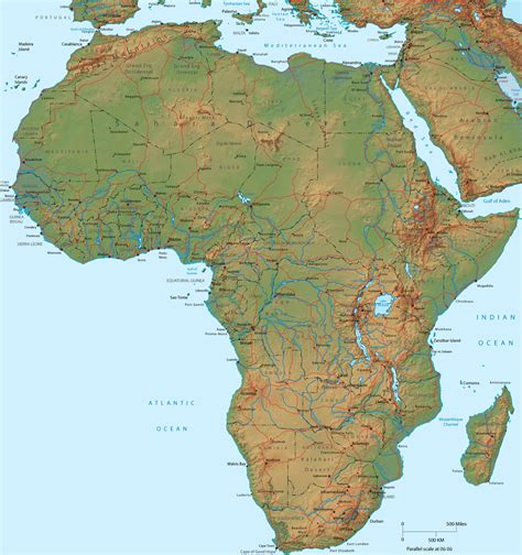 terrain map africa terrain map africa map printable africa map