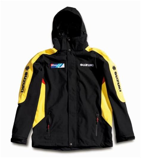 Suzuki Jacket Team Yellow Suzuki Waterproof Jacket