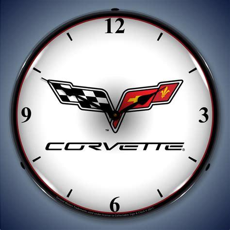 corvette clock repair corvette wall clocks corvette lighted garage wall clock